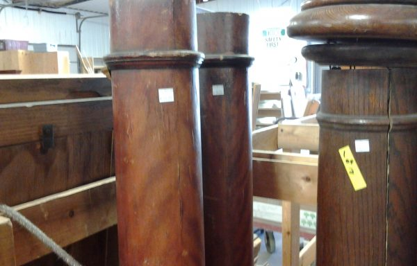 Antique Wood Columns.  Two sizes available.