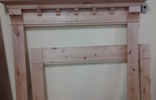 Knotty Alder Mantel, Price Reduced $399.99
