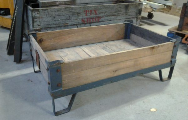 Vintage Factory Pallets with Removable Collars