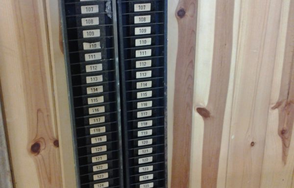 Vintage time card holders