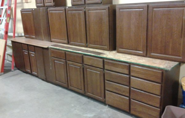 13 pc Dark Oak Cabinet Set